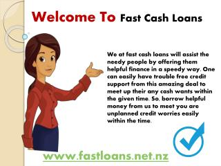 Fast Cash Loans A Monetary Scheme Through Which You Can Borrow Quick Money