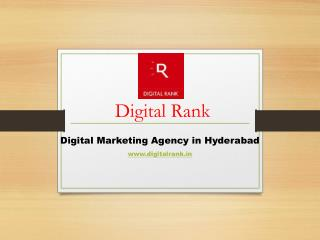 Digital Marketing Agency in Hyderabad-DigitalRank