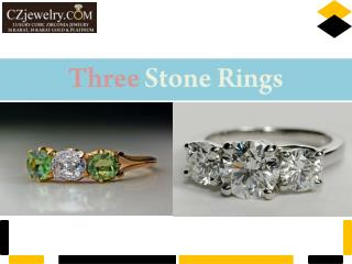 Three Stone Rings - CZ Jewelry