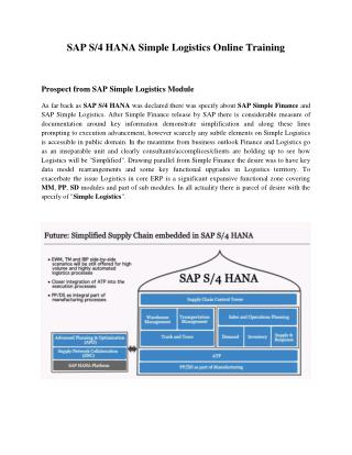 SAP HANA Logistics Training, SAP Logistics Courses at SAPVITS