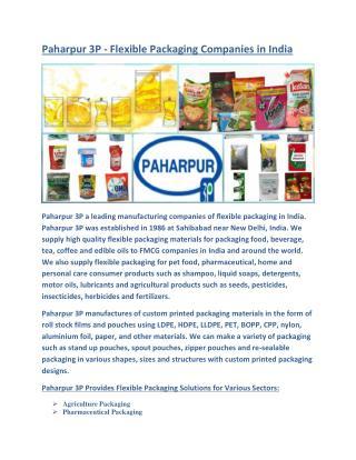 Paharpur 3P | Flexible Packaging Industry in India