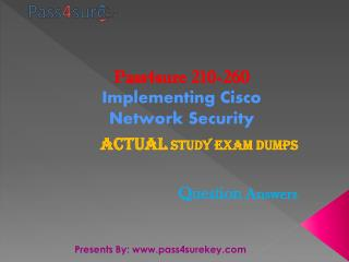 Pass4sure 210-260 Cisco Exam Questions