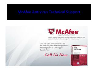 McAfee Antivirus Technical Support | Customer Service