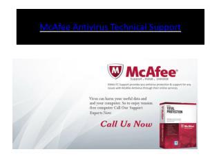 McAfee Antivirus Technical Support | Customer Service