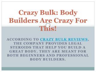Crazy Bulk - Is Crazy Bulk is best body building supplement?