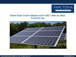 Solar Tracker Market size to exceed 29.5 GW by 2023