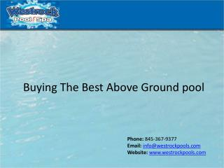 Buying The Best Above Ground pool
