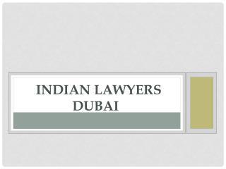Indian lawyers in dubai