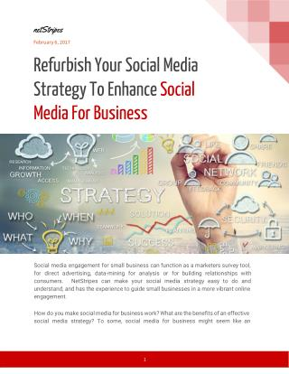 Refurbish Your Social Media Strategy To Enhance Social Media For Business - netStripes
