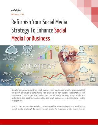 Refurbish Your Social Media Strategy To Enhance Social Media For Business - netStripes
