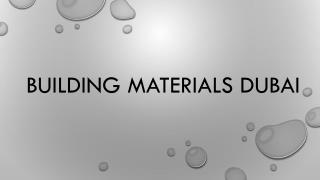 Building materials Dubai