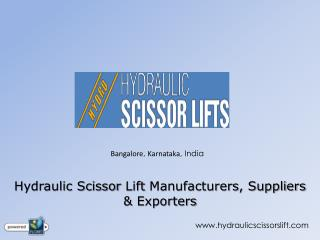 Hydraulic Scissor Lift Manufacturers