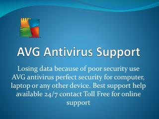 AVG Antivirus Customer Support