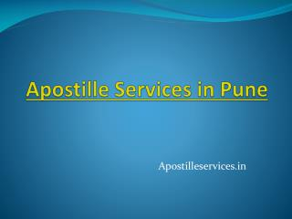 Apostille Services In Pune