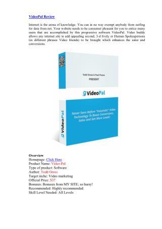 VideoPal Review - Very Sepcial Bonuses