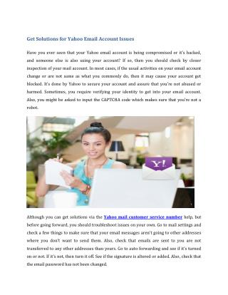Get Solutions for Yahoo Email Account Issues