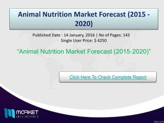 Animal Nutrition Market Growth & Opportunities 2021