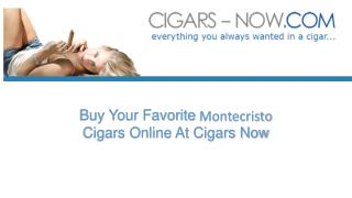 Shop Montecristo Cigars Online