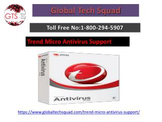 Support For Trend Micro Antivirus Toll Free 1-800-294-5907