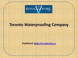 Toronto Waterproofing Company