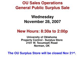 OU Sales Operations