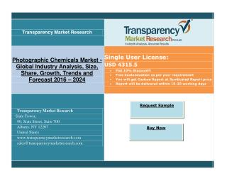Photographic Chemicals Market: Rising Use of Print Media for Promotional Activities, Growth By 2024