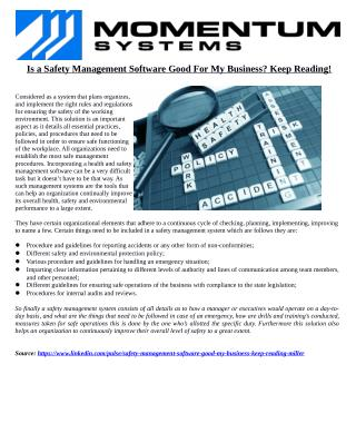 Is a Safety Management Software Good For My Business? Keep Reading!
