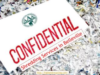 Confidential Shredding Services in Belleville