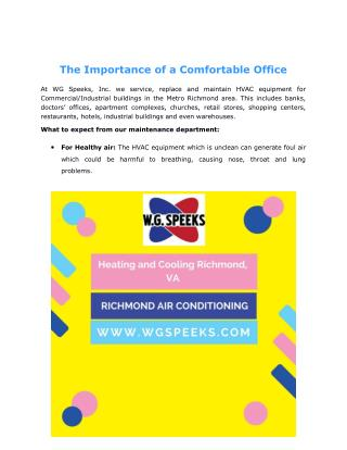 The Importance of a Comfortable Office
