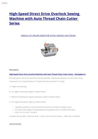 High-Speed Direct Drive Overlock Sewing Machine with Auto Thread Chain Cutter Series