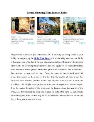 Sicily Wine Tours | en.sicilying.com