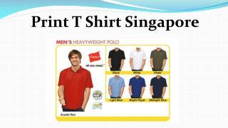 Print T Shirt Singapore
