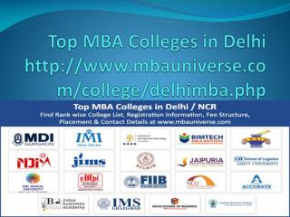 Top MBA Colleges In Delhi, MBA Colleges In Delhi, MBA In Delhi