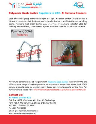 Load Break Switch UAE, Polymeric Goab Switch Suppliers