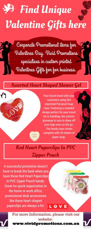 Valentine's Day Promotional Gifts - Vivid Promotions