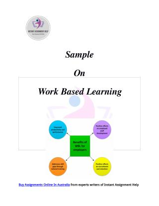 Work Based Learning Sample