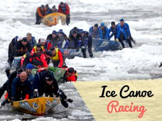 Ice Canoe racing