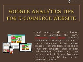 Google Analytics Tips For E Commerce Website