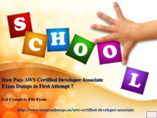 AWS Certified Developer Associate exam question :: Amazondumps.us