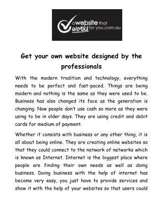 Find professional web design firms