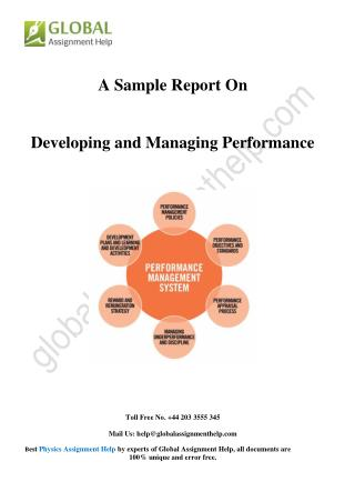 Sample on Developing and managing performance By Global Assignment Help