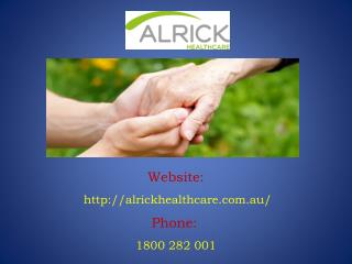 Medical Equipments Provided by Alrick Healthcare