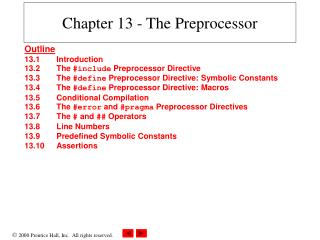 Chapter 13 - The Preprocessor