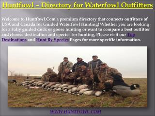 HuntFowl - Guided Duck & Goose Hunting Directory