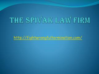 Contact A Wrongful Employment Termination Attorney