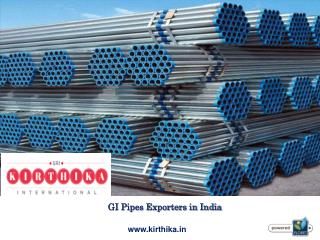 GI Pipes Exporters in India