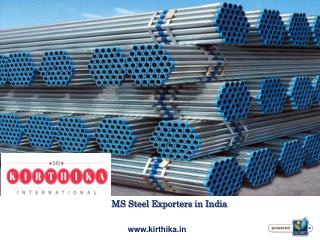 MS Steel Exporters in India