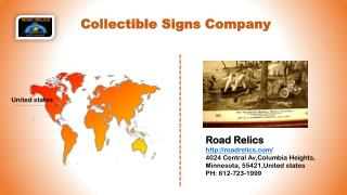 Attractive collectible signs company in USA