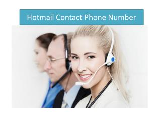 Troubleshoot your Hotmail account with Hotmail contact phone number