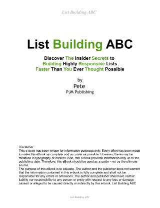 List Building ABC